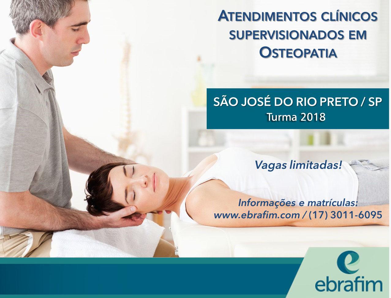 ATENDIMENTOS CLÍNICOS SUPERVISIONADOS EM OSTEOPATIA – RIO PRETO