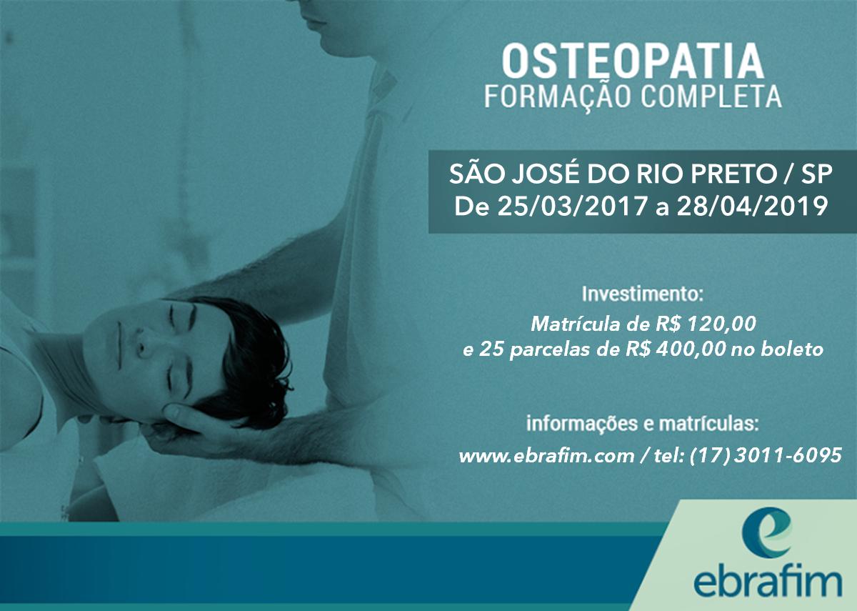 Formação em Osteopatia – São José do Rio Preto (Turma III)