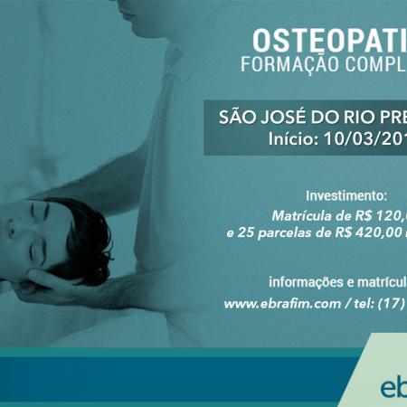 Formação em Osteopatia – São José do Rio Preto (Turma IV)