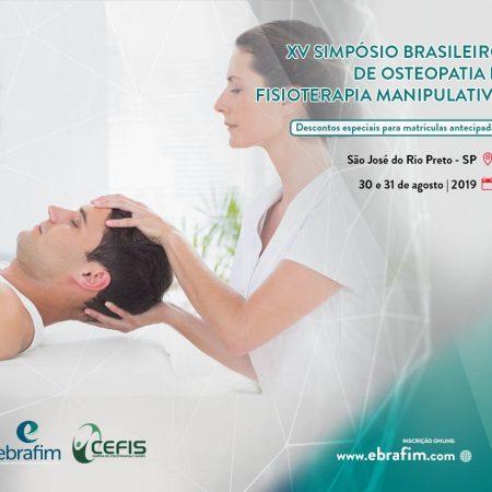 XV SIMPÓSIO BRASILEIRO DE OSTEOPATIA E FISIOTERAPIA MANIPULATIVA